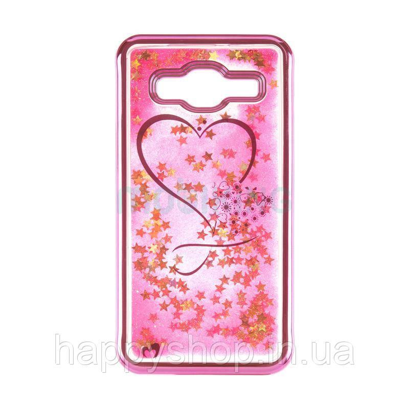 Силиконовый чехол Beckberg Aqua для Samsung Galaxy J4 2018 (J400) Hearts Pink