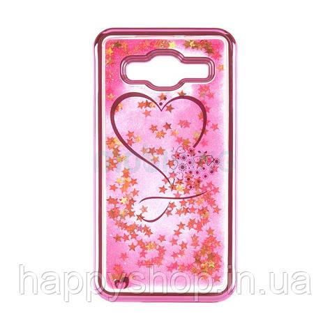 Силиконовый чехол Beckberg Aqua для Samsung Galaxy J4 2018 (J400) Hearts Pink, фото 2