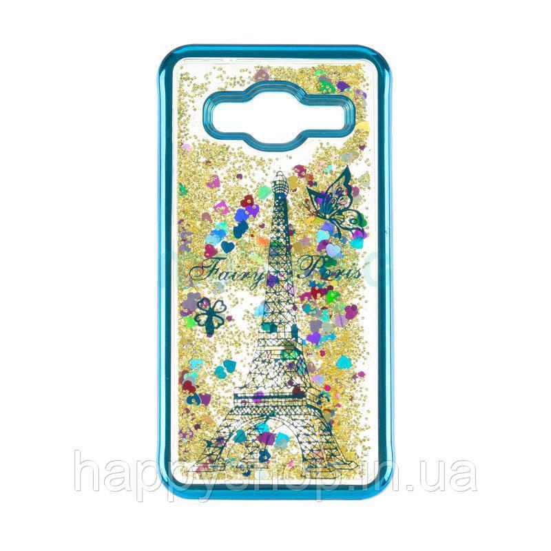 Силиконовый чехол Beckberg Aqua для Samsung Galaxy J4 2018 (J400) Paris Blue