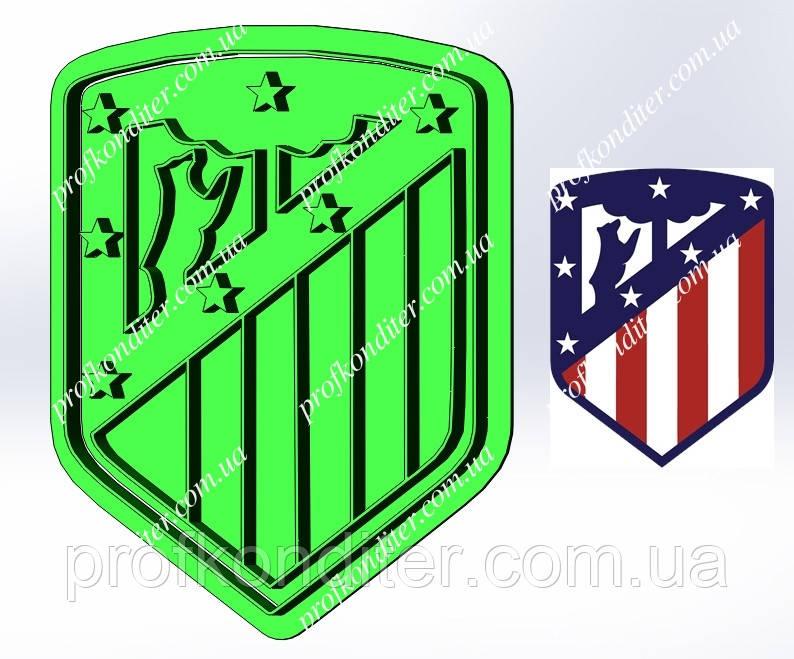 Пластикова вирубка з відбитком Футбольний клуб Атлетіко Мадрид, висота 11см