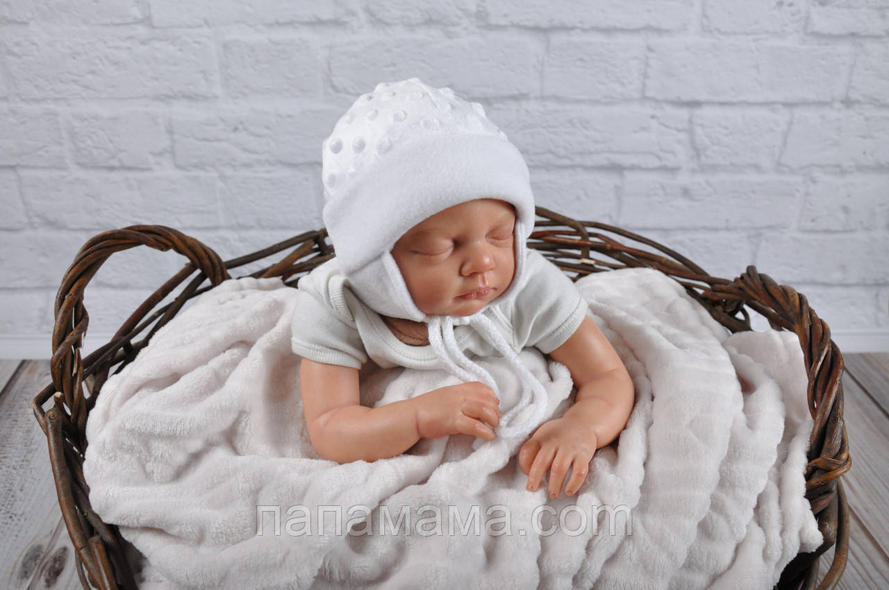 "Плюшевая шапочка ""Newborn"", белая"