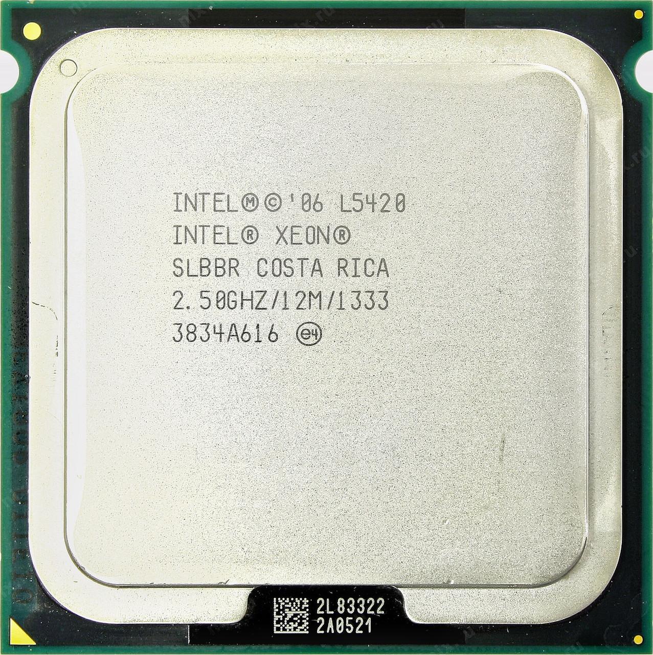 Процессор Intel Xeon L5420 E0 4-ядра 2.50GHz для LGA775 50W + термопаста GD900