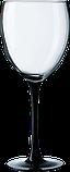 Бокал для вина на черной ножке 360 мл, фото 3