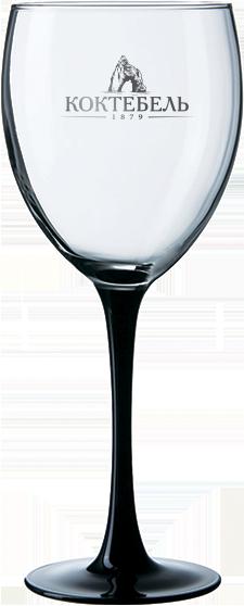 Бокал для вина на черной ножке 360 мл