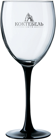 Бокал для вина на черной ножке 360 мл, фото 2