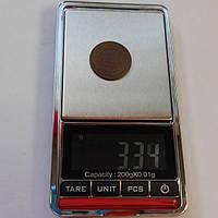 Высокоточные электронные, ювелирные, карманные весы до 200 г. (шаг 0,01)