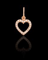 Золотой Кулон Сердце кам.(0,6)