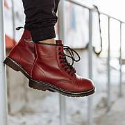 Женские ботинки Dr. Martens Original Cherry c 8 парами люверсов