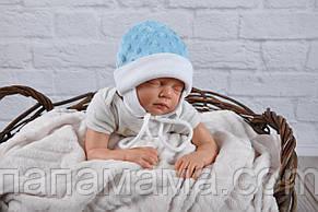 """Плюшевая шапочка """"Newborn"""", голубая"""