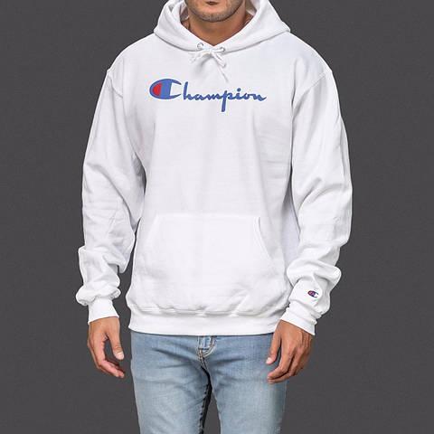 White Authentic Champion sportswear logo hoodie hoody hooded sweatshirt 5a6a5703d1ea