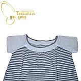 Платье домашнее, полоса, серый, фото 2