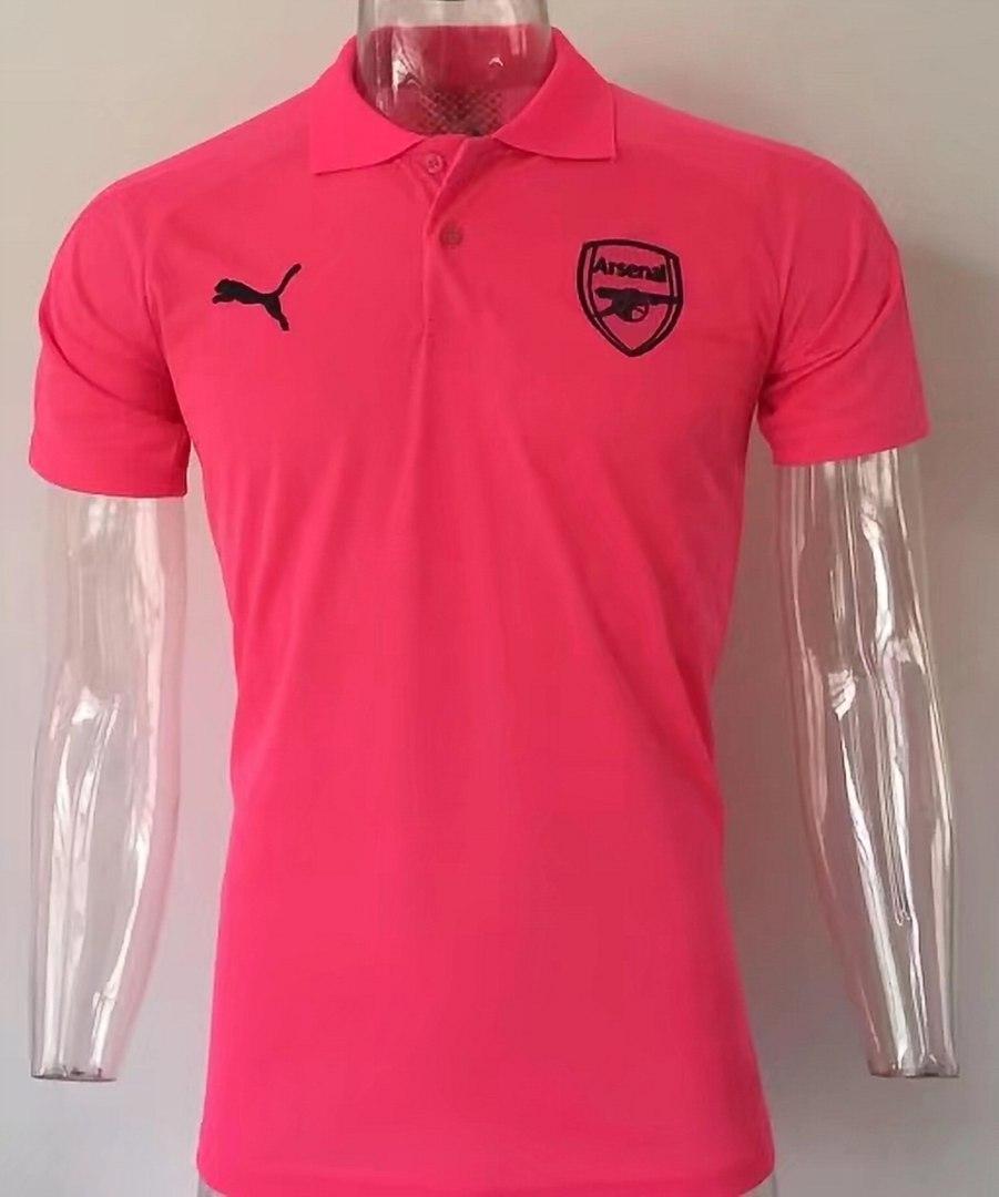 Футбольная футболка поло Арсенал розовая