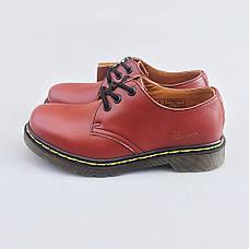 Мужские кожаные полуботинки/туфли в стиле Dr. Martens Originals Red, фото 3