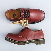 Мужские кожаные полуботинки/туфли в стиле Dr. Martens Originals Red