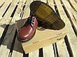 Женские кожаные полуботинки/туфли в стиле Dr. Martens Originals Red, фото 2