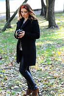 Красивое черное пальто, сезон весна/осень HQ-009.024
