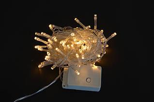 Электрогирлянда Yes! Fun светодиодная,100 ламп молочно-белая,8 режимов мигиния прозрачный провод 801057