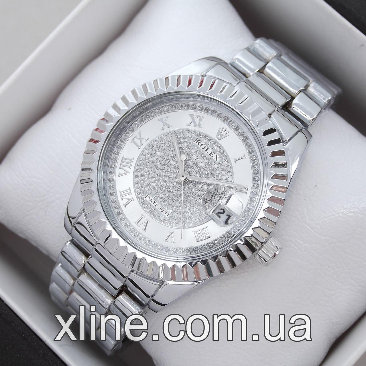 Жіночі наручні годинники Rolex 7162 на металевому браслеті