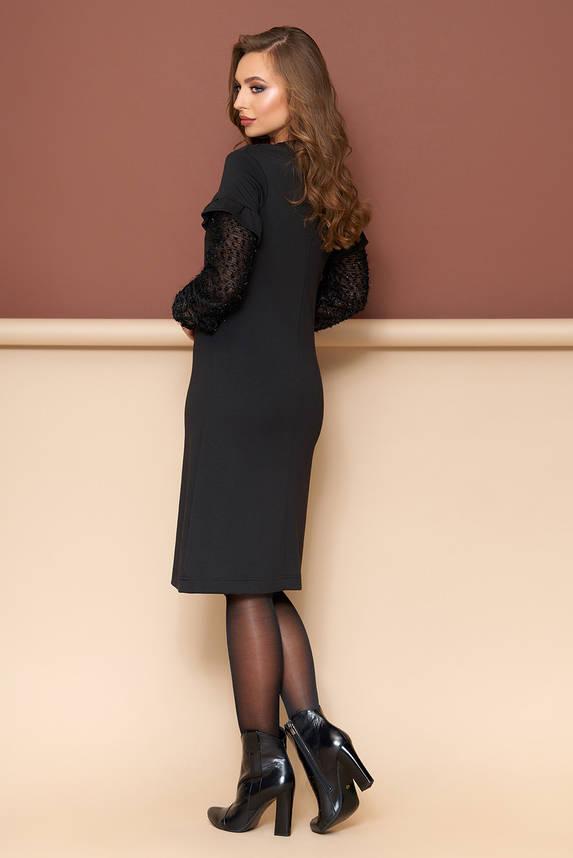 Трикотажное черное платье, фото 2