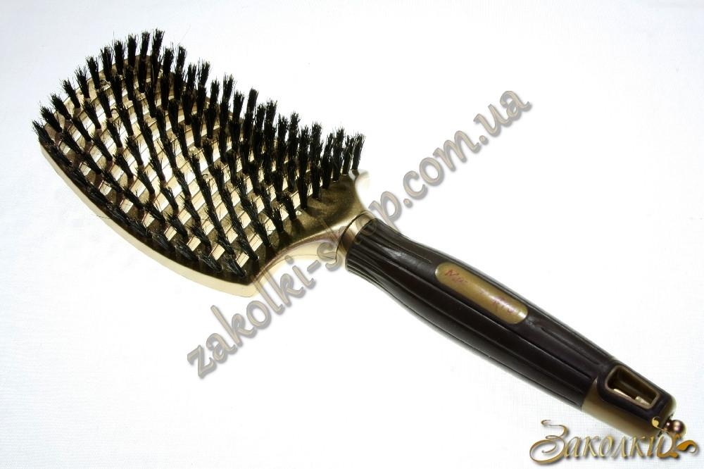 Массажная расческа для волос Master-Pro 5032AZ2 с прорезиненной ручкой