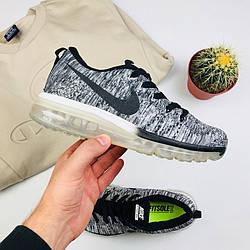 "Женские кроссовки Nike Air Flyknit Max 2014 ""Gray"" (люкс копия)"