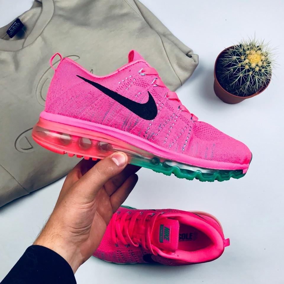 "Женские кроссовки Nike Air Flyknit Max 2014 ""Pink"" (люкс копия)"