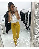 Женские стильные свободные брюки на завязках, фото 1