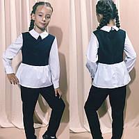 Дитячий брючний костюм Школа №728 в кольорах (р. 128-146), фото 1