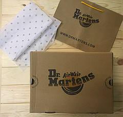 Мужские кожаные полуботинки/туфли в стиле Dr. Martens 1461 Brown, фото 3