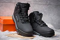 Мужские Зимние ботинки на меху в стиле Nike ACC Winter, черные. Код товара: KW - 30393