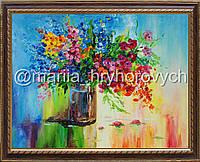 """Картина на заказ. Масляная живопись. Авторская работа. Оригинал. """"Букет цветов"""""""