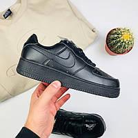 "Женские кроссовки Nike Air Force 1 Low ""Black"" (люкс копия)"