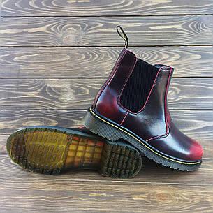 Мужские кожаные ботинки/челси в стиле Dr. Martens Chelsea Red, фото 2