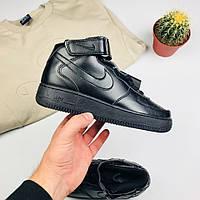 "Женские кроссовки Nike Air Force 1 black ""High"" (люкс копия)"