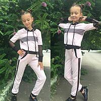 Детский спортивный костюм Сетка №727 (128-146) \ белый, фото 1