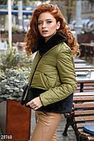 Короткая зимняя куртка с синтепоновым утеплителем