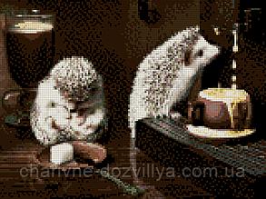 """Набор алмазной вышивки (мозаики) """"Утренний кофе"""". Художник Еремина Елена, фото 2"""