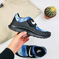 """Женские кроссовки Nike Air Socfly """"Black/Blue"""" (копия)"""