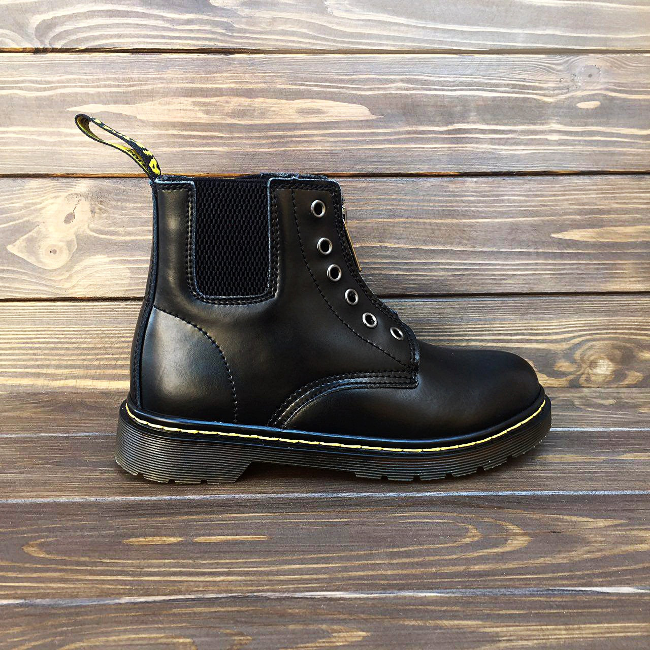 8192a6b8 Мужские кожаные ботинки/челси в стиле Dr. Martens 101 Gusset -  Интернет-магазин