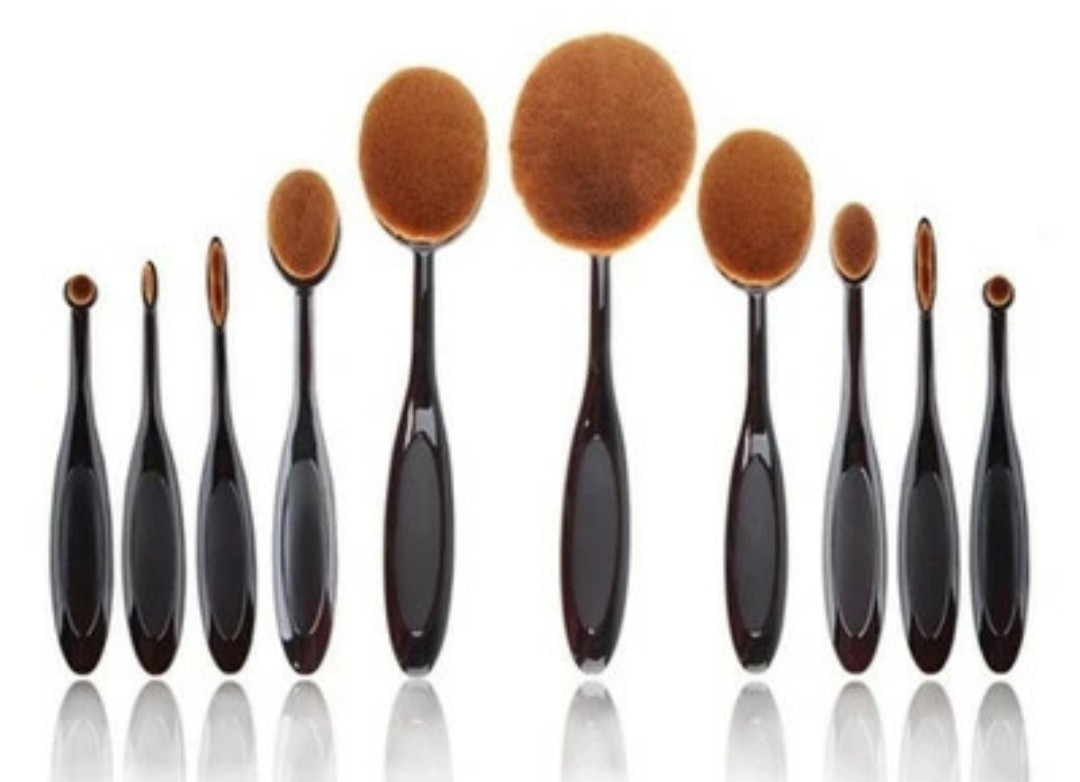 Кисти - щетки  для макияжа 10 шт набор
