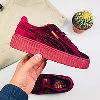 a27add5ed166 Женские кроссовки Puma x Rihanna Fenty Creeper Velvet Royal Purple (люкс  копия)