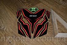Наклейка на бак мотоцикла 200*230мм Spirit Beast (Варіант 3)