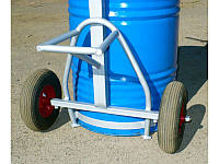 Бочковоз - тележка для бочки на 400 кг. Колёса (докатка). Apitherm ™