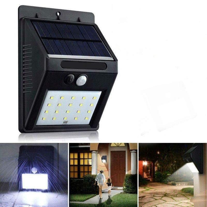 Водонепроникний світильник з датчиком руху сонячної панелі (20LED)