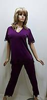 Пижама с брюками микромасло 295-1, фото 1