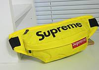 Сумка на пояс Supreme желтая, фото 1