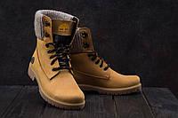 Ботинки Best Vak БЖ 35-07 (Timberland) (зима, женские, нубук, рыжий)