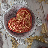 """Пластиковая форма """"Сердце с орнаментом"""" (выдумщики)"""