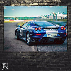 Постер Авто, Ferrari, Феррари. Размер 60x42см (A2). Глянцевая бумага