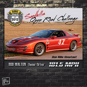 Постер Авто, Open road challenge. Размер 60x47см (A2). Глянцевая бумага